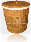 rattan basket with handle
