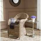 Kubu Soft Grey Rattan Club Chair