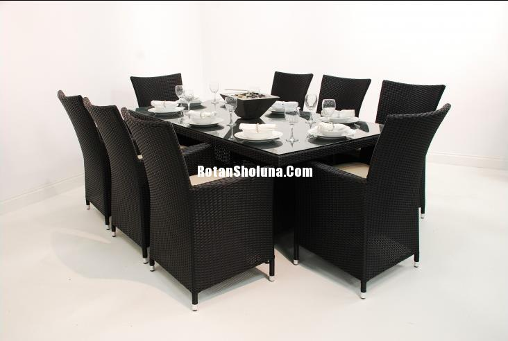 kursi makan synthetic rattan