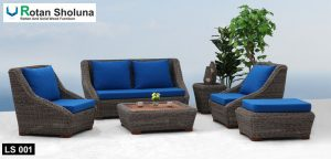 Lantana living set from synthetic rattan sofa